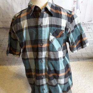 3/$15 Shaun White plaid button front shirt S 6--7